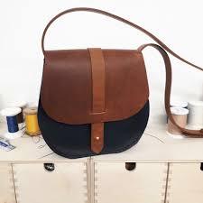 one day leather saddle bag