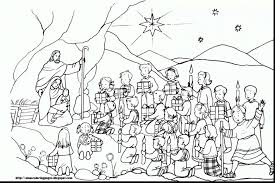 Christmas Nativity Coloring Pages Printable With Page Of Manger