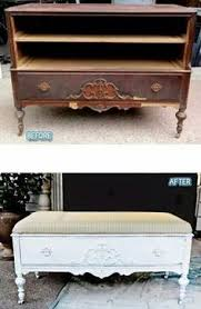 diy repurposed furniture. Before/After DIY Repurposing Old Furniture ~ Dresser To Shabby Chic Coffee  Table Image ./ Want Try This On The Old Bathroom Dresser. Diy Repurposed Furniture I