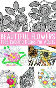 Flower Coloring Pages Printables Flower Coloring Pages Free