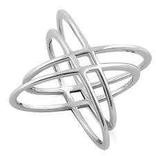 atomdesign sterling silver overlapping atom design ring