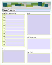 daily calendar template word daily planner template word format for purchase order