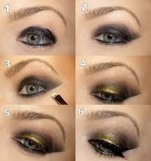 step by step makeup application step by step tutorial steunk smoky eyes