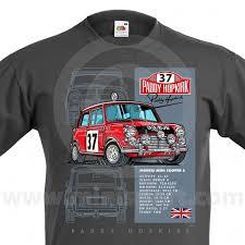 paddy hopkirk mini 33ejb grey t shirt classic mini clothing mini paddy hopkirk 33 ejb t shirt