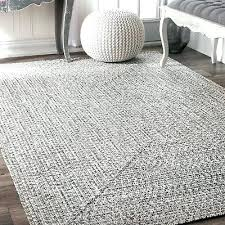 braided contemporary modern indoor outdoor area rug in gray white black nuloom 9x12