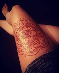 Mendhi Mandala Tetovani Thigh Henna Henna A Henna Tattoo Designs