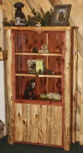 log rustic furniture amish. FiS-Amish-Rusic-Log-RedCedarBookcase Log Rustic Furniture Amish
