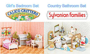 Sylvanian Families   Calico Critters Girlu0027s Bedroom Set And Country  Bathroom Set Unboxing   YouTube