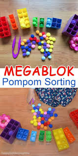 Mega Blok Pompom Sorting Super Easy Activities And Easy