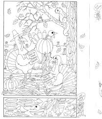 Small Picture Visual Perception Coloring Page and Hidden Picture Puzzle for