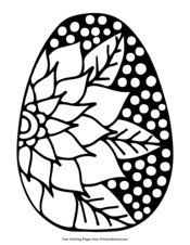 What will hatch from your colorful easter egg? Easter Coloring Pages Free Printable Pdf From Primarygames