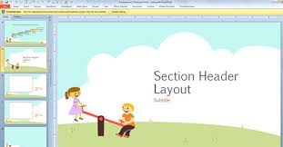 Free Educational Cartoons Free Children Powerpoint Template With Cartoons For