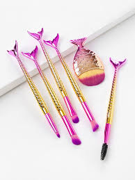 pink and yellow mermaid l makeup brushes get the whole set here mermaid mermaidl mermaidlmakeupbrushes fishlbrushes afflink