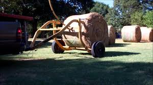 Hauling Hay On The Homestead~Tumblebug Round Bale Transport - YouTube