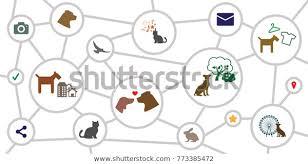 Vector Illustration Circles Chart Schemes Animal Stock