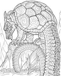 Dragon Coloring Pages For Adults To Download And Print Free At