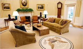 oval office design. Unique Design The New Oval Office Features Fawncolored Cotton Velvet Sofas A Mica  Coffee Table And Rug Ringed With Inspirational Quotes Credit Doug MillsThe New  To Design