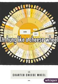 Charted Cheese Wheel Im Hung Like A Cheese Wheel