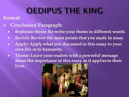 essay on oedipus the king co essay