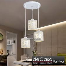 modern creative flower loft pendant light decasa lighting set of 3 with 250mm round base modern designer decorative ceiling light pendant light