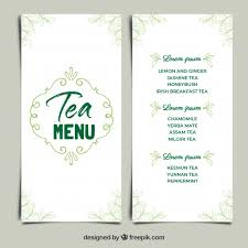 Tea Menu Template In Flat Style Stock Images Page Everypixel