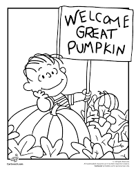 it s the great pumpkin charlie brown coloring pages woo jr kids activities