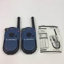 motorola talkabout. 2 motorola talkabout way hand radios p14spa03p2aa walkie talkies w/ manual