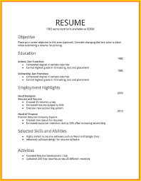 How Make Resume For Job First With Example Sample