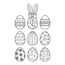easter egg coloring. Delighful Coloring Nine Easter Eggs Coloring Pages Free Intended Egg C