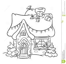 christmas house coloring pages. Interesting Christmas Christmas Snow House On Coloring Pages S