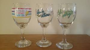 nice wine glasses brand. Contemporary Nice Set Of 3 Novelty Wine Glasses  Brand New No Seam Very Nice 1 4Only  Available  On A