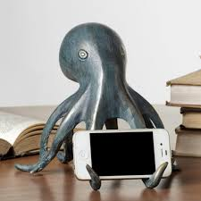 Unusual Home Decor Accessories Accessories Octopus IPhone Holder Green Metal Octopus Accessories 93