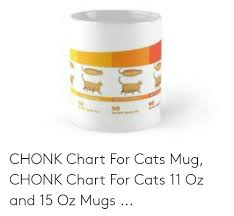 Chonk Chart For Cats So Chonk Chart For Cats Mug Chonk Chart For Cats 11 Oz And