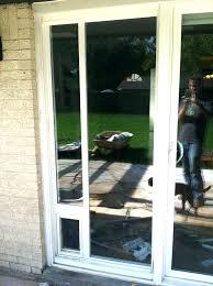 storm door with pet door installed sliding patio screen door with pet door dog door installation