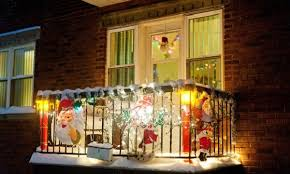 balcony lighting decorating ideas. Beautiful Christmas Balcony Lights Decorating A For Christmas; Home Landscaping Ideas Lighting
