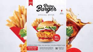 Flyer Design Food Burger Restaurant Flyer Design Photoshop Tutorial Youtube