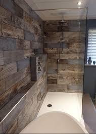 bathroom wood floor tile walls best reclaimed wood rachel s bathroom transformation walls of bathroom wood