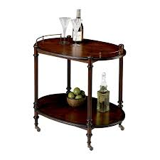 butler specialty plantation cherry oval serving table at