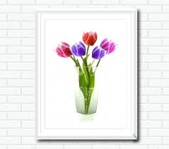 modern pictures for living room decoration flower poster printable wall hanging pier one embroidered tulips wall art black and white tulip wall art on black and white tulip wall art with tulip wall art tulip canvas wall art print modern pictures for
