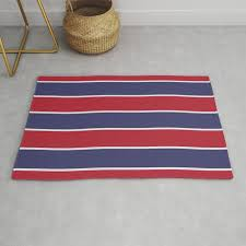 large red white and blue usa memorial day holiday horizontal cabana stripes rug