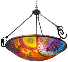 colored glass chandelier new contemporary fixture design for abstract reverse painted glass chandeliers multi colored blown