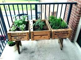 patio herb garden balcony ideas stand diy planter by pl herb garden stand