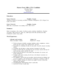 resume mba candidate