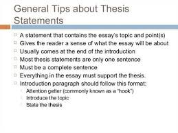 Thesis Example Essay Thesis Statement Examples Expository Essay Examples And Forms