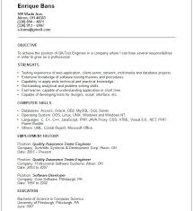 Environmental Test Engineer Sample Resume