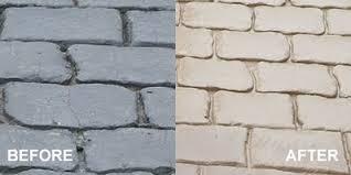 paving paint coloured concrete