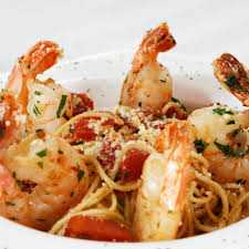angel hair with y shrimp courtesy of dreamfields pasta