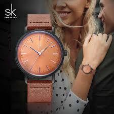 <b>Shengke</b> Fashion Watches Women Leather Wrist Watch Reloj Mujer ...