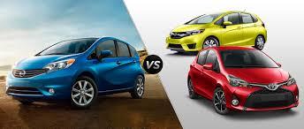 2015 Nissan Versa Note vs. 2015 Honda Fit vs. 2015 Toyota Yaris