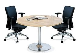 4ft round discussion table with round base aim120br zoom aim 120br